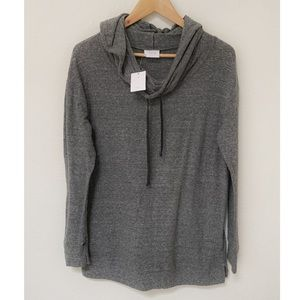 NWT UO Project Social T Cowl Neck Grey Sweatshirt